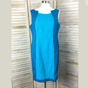 Evan Picone Shift Colorblock Dress Sz 12